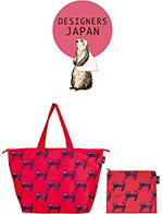 デザイナーズコラボレーションショッピングバッグ 簡易保冷機能付 ドットねこ2,500 ポイント