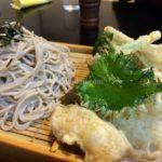 野崎駅そばの信州そばさんの天ぷらが絶品。
