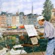 Honfleur_-_Le_peintre_du_vieux_port