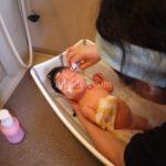乳児湿疹を治す沐浴のポイント※お風呂でしっかり洗顔と風呂上がりの保湿が大事!