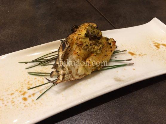 焼き毛蟹~蟹味噌のっけ醤油焼